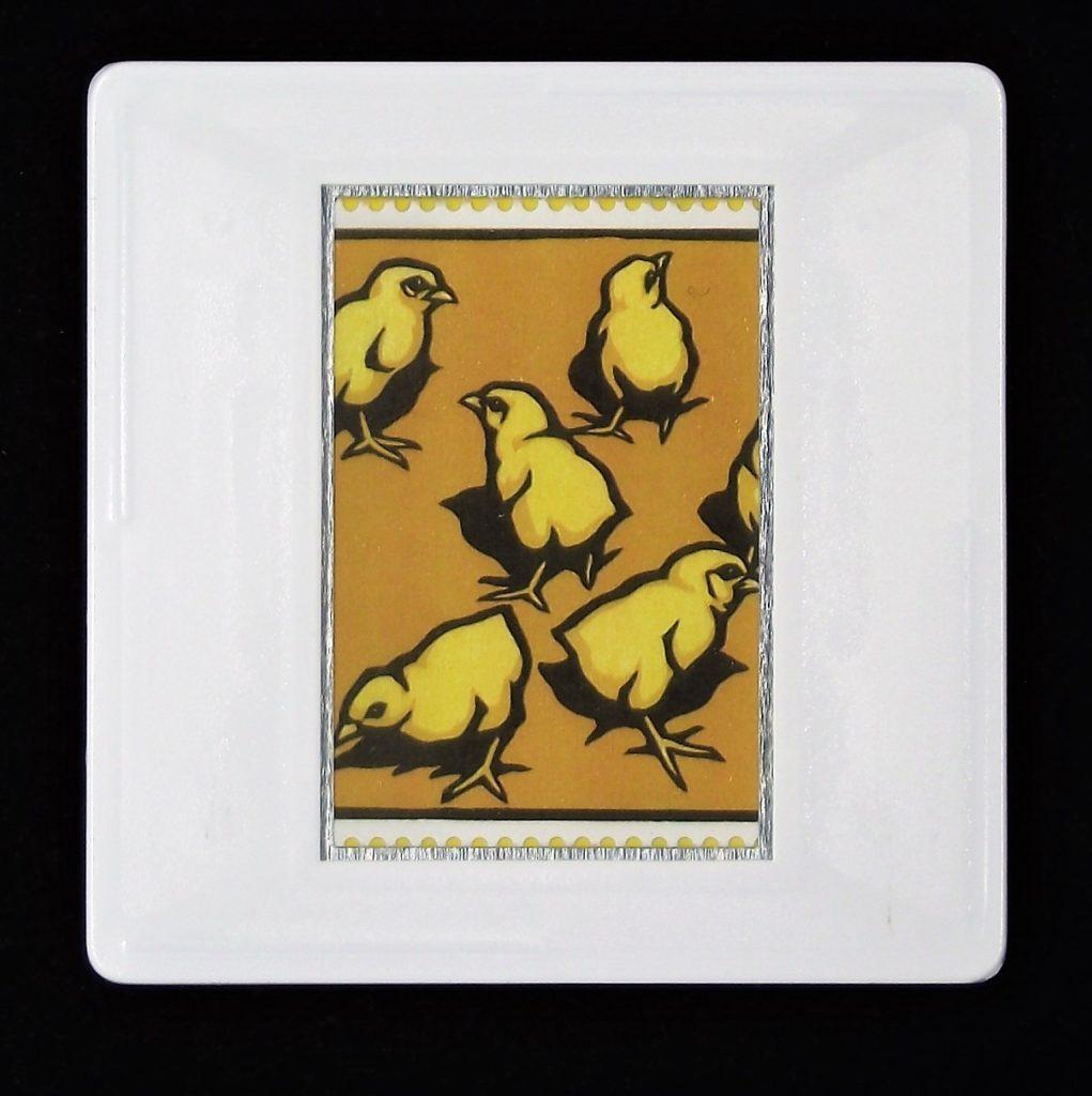 Light Sussex Chicks brooch