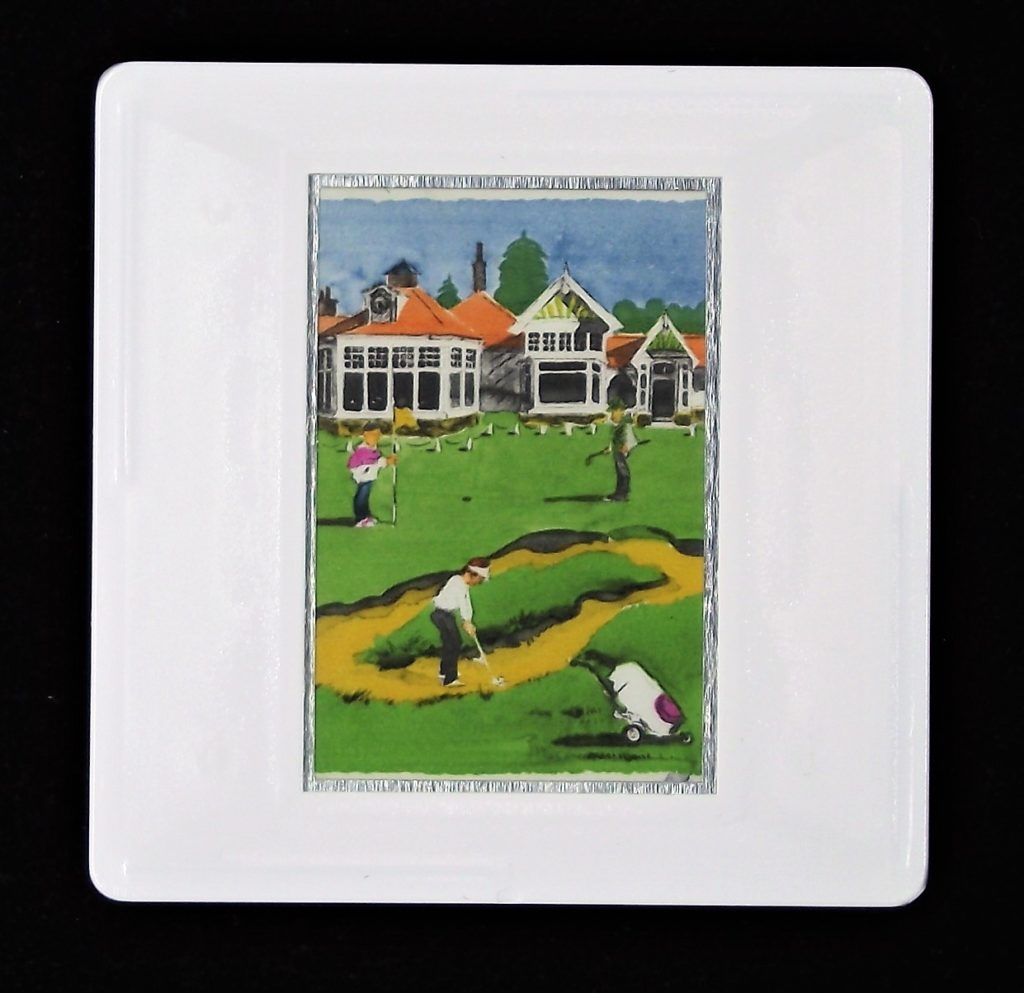 The 18th Hole at Muirfield brooch - golf badge or pin