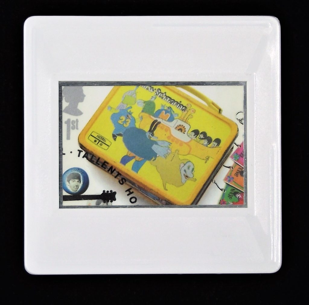 The Beatles Yellow Submarine lunchbox brooch - music brooches
