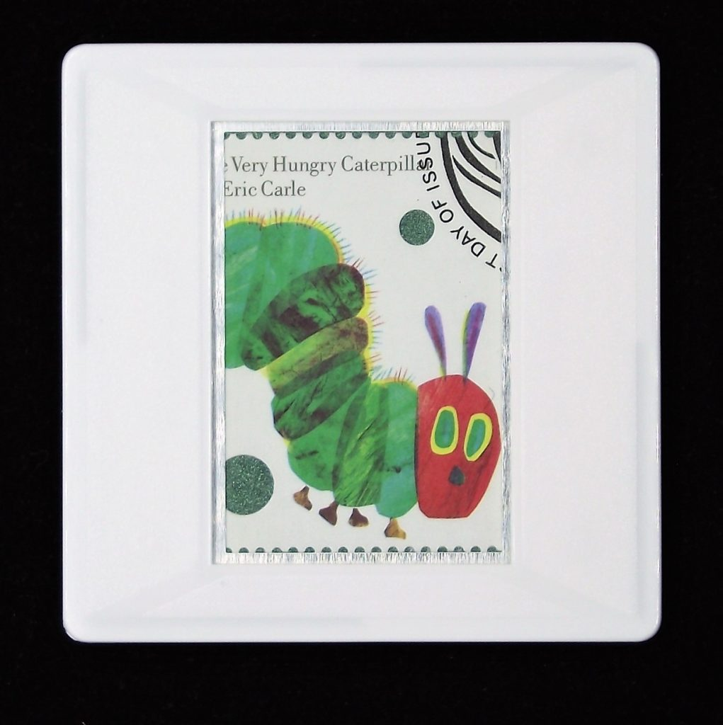 The Very Hungry Caterpillar brooch - Eric Carle