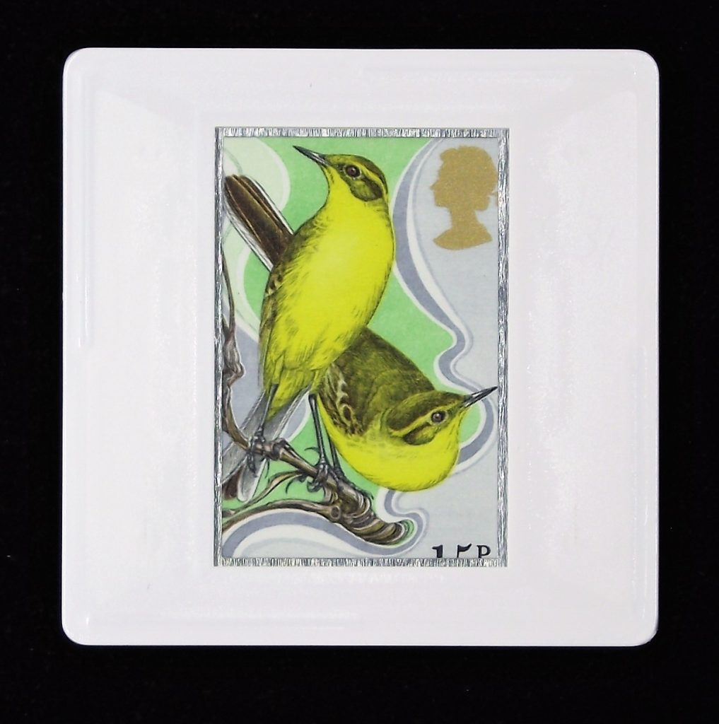 Yellow wagtails brooch