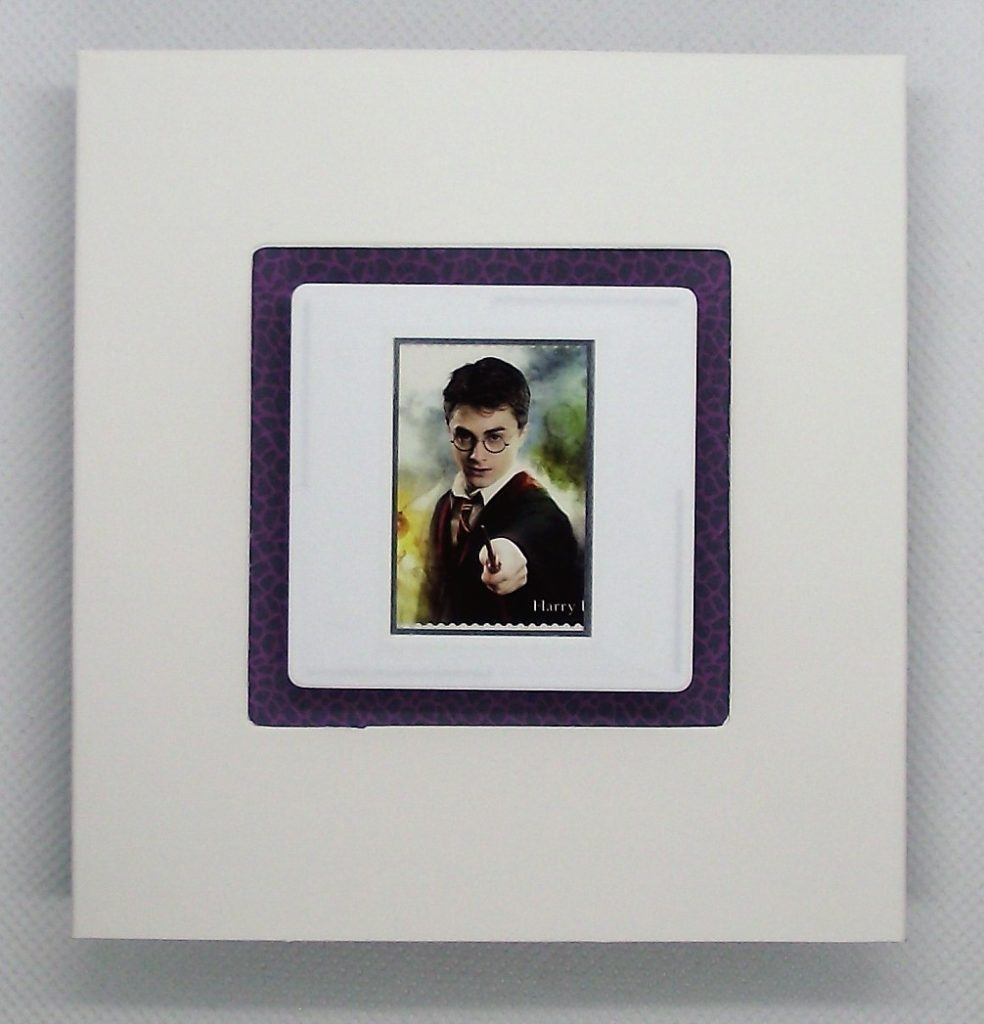 Blank card with Harry Potter brooch