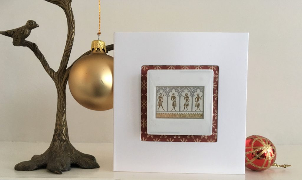 Christmas brooch and free display card