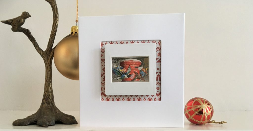 Traditional Christmas brooch with free display card
