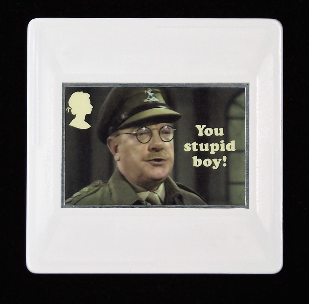 Dad's Army Brooch, Captain Mainwaring, Arthur Lowe, You stupid boy.