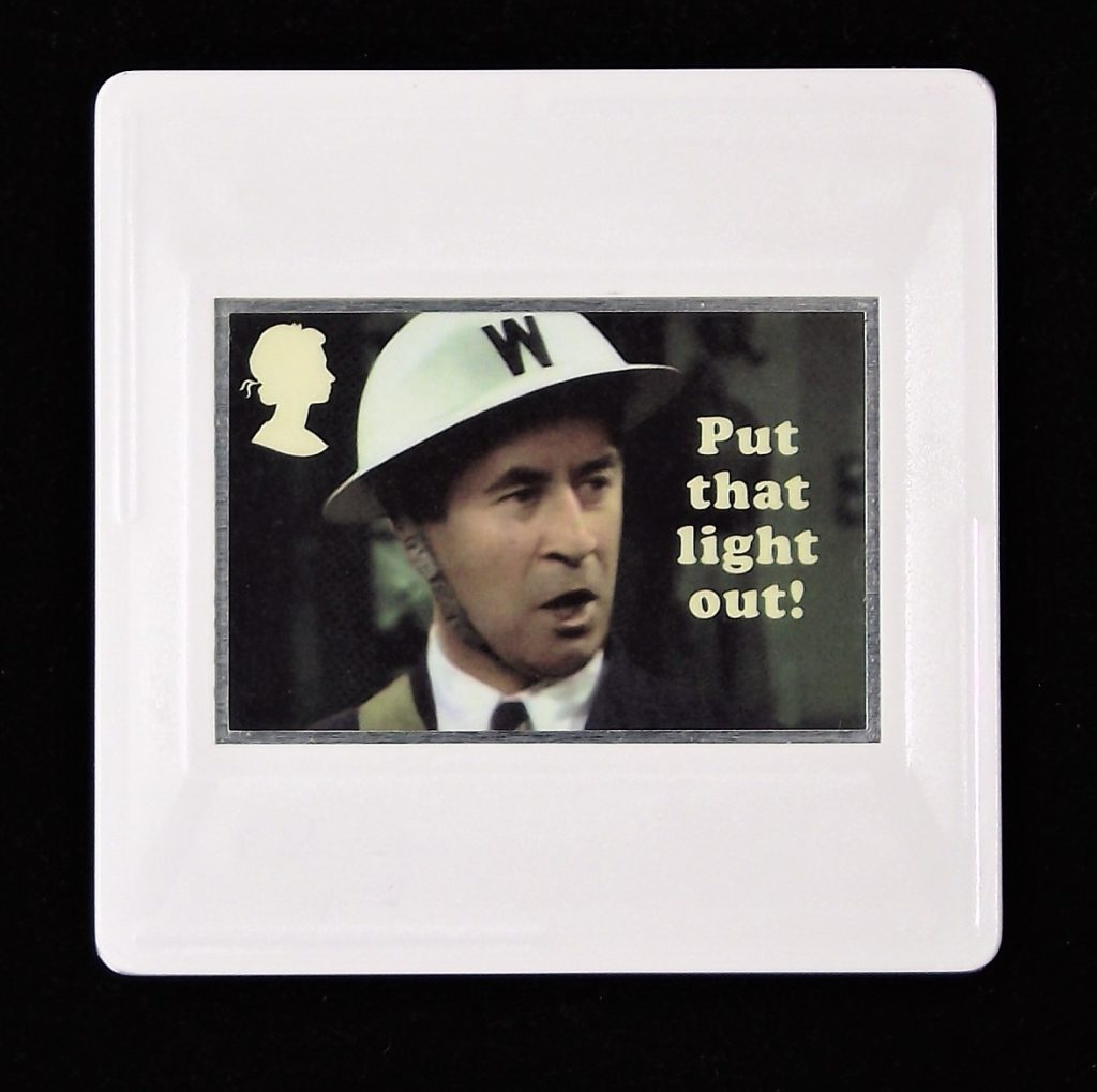 Dad's Army Brooch, Chief ARP Warden Hodges, Bill Pertwee, Put that light out.