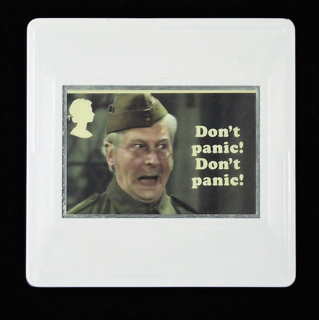Dad's Army Brooch, Lance Corporal Jones, Clive Dunn, Don't panic! Don't panic!