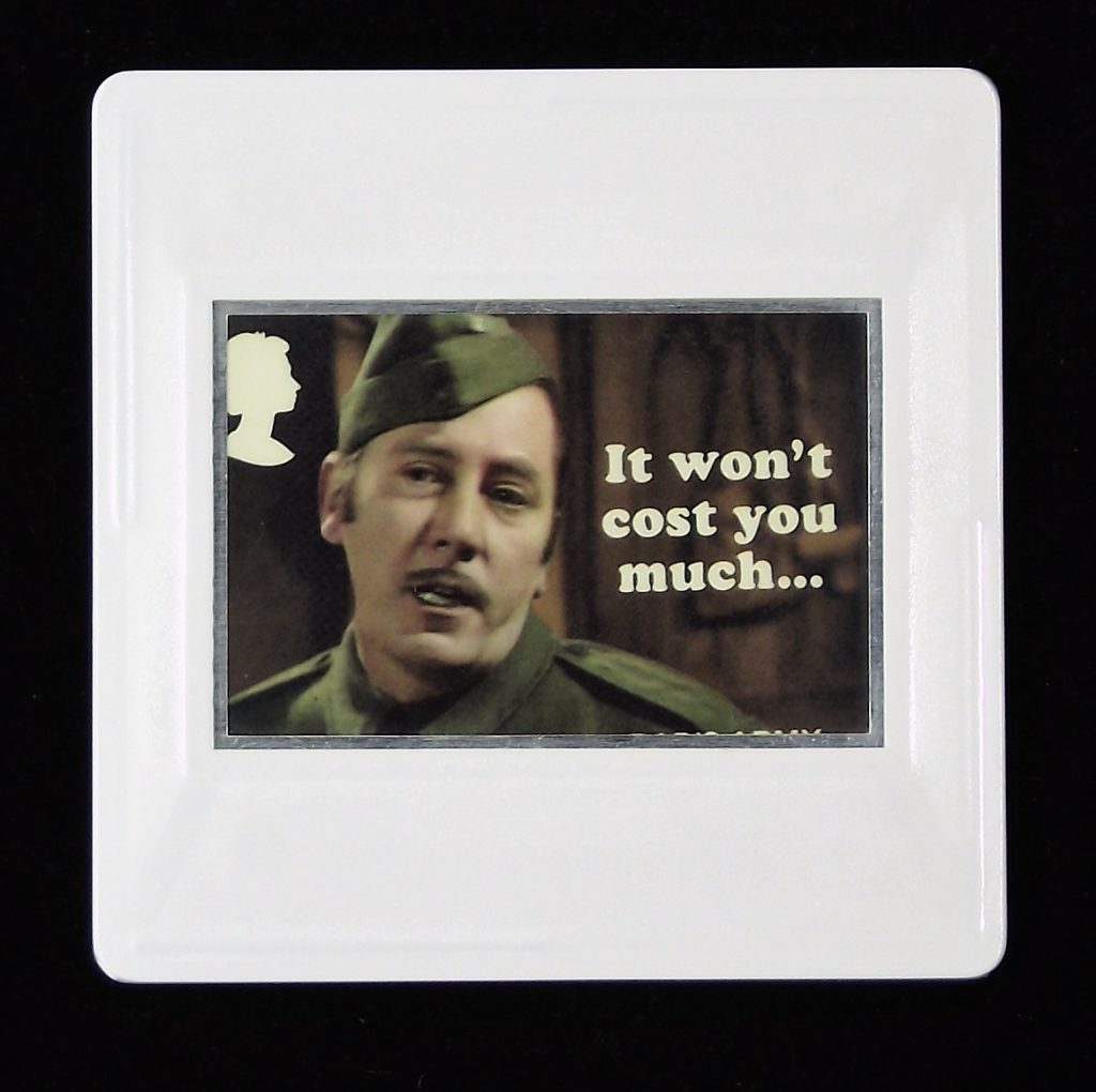 Dad's Army Brooch, Private Walker, James Beck, It won't cost you much. . . .